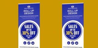 Professional Roll Up Banner Design in Adobe Photoshop CC